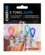 Chef Aid Towel Clips - 5 Pack
